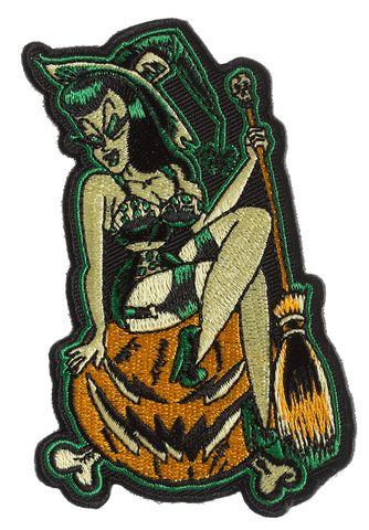 Sourpuss Pumpkin Witch Patch
