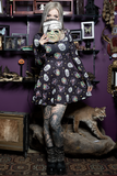 Sourpuss Halloween Masks Skater Dress