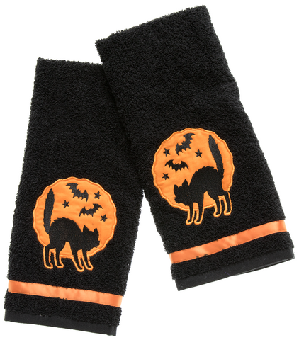 Sourpuss Black Cats Hand Towel Set