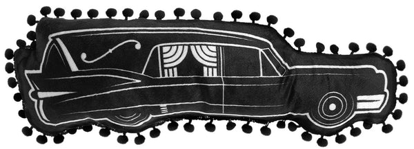 Sourpuss Hearse Shaped Pillow