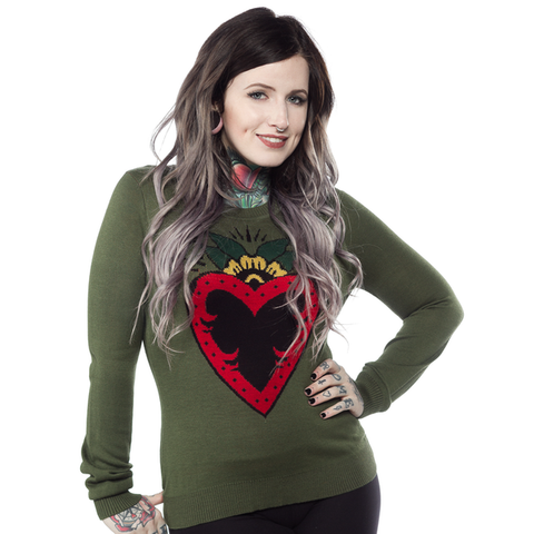 Sourpuss Heart Of Tin Sweater