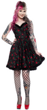 Sourpuss Holly Bats Sophia Dress