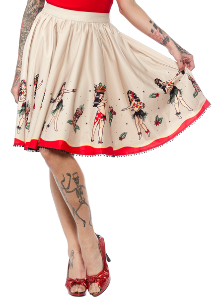 Sourpuss Hula Gals Border Sweets Skirt