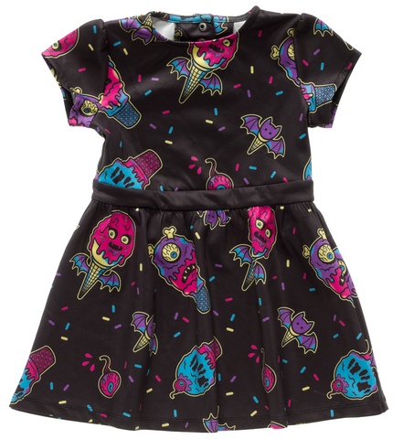 Sourpuss Ice Creep Cones Kids Dress