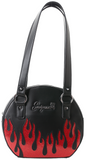 Sourpuss Up In Flames Round Purse
