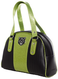 Sourpuss Jinx Tuck and Roll Purse Black / Green
