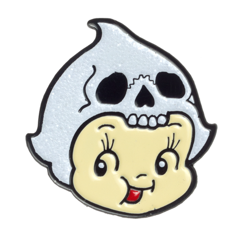 Sourpuss Cupie Ghost Enamel Pin