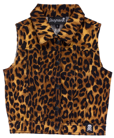 Sourpuss Kids Essential Leopard Vest