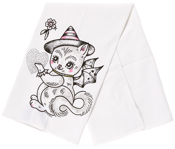 Sourpuss Kitten Teapot Dish Towel