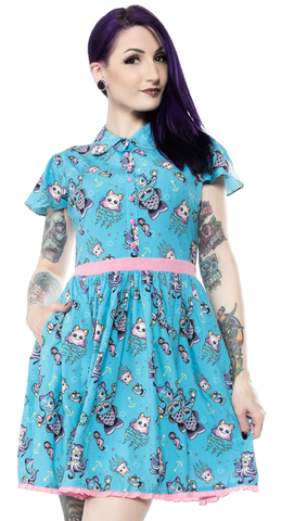 Sourpuss Kittens Of The Sea Lydia Dress