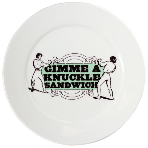 Sourpuss Knuckle Sandwich Dinner Plate