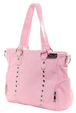 Sourpuss Leda Canvas Stud Purse Pink