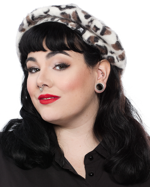 Sourpuss Leopard Fur Beret