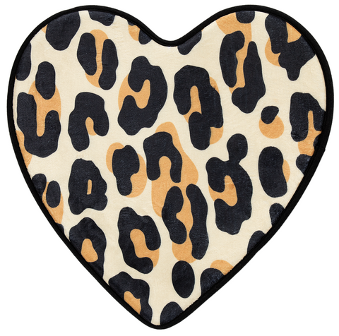Sourpuss Leopard Heart Bath Mat