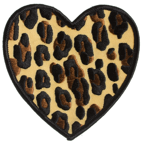 Sourpuss Leopard Heart Patch