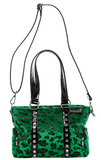 Sourpuss Leopard Mini Leda Stud Purse Green