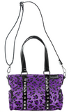 Sourpuss Leopard Mini Leda Stud Purse Purple