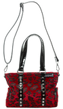 Sourpuss Leopard Mini Leda Stud Purse Red