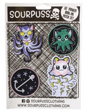 Sourpuss Kittens of the Sea Lil Punker Patch Set