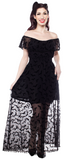 Sourpuss Luna Bats Fiesta Maxi Dress