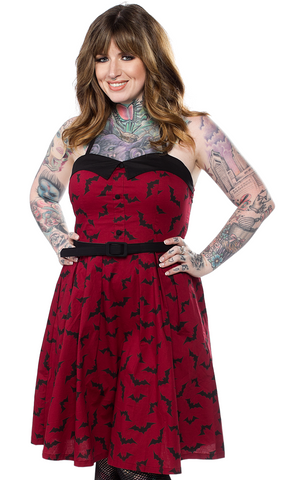 Sourpuss Luna Bats Spooksville Dress