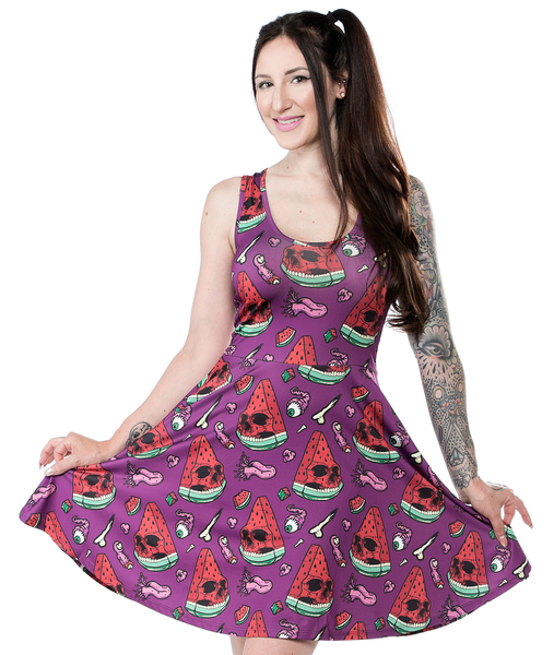 Sourpuss Melon Head Skater Dress