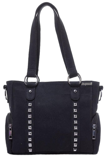 Sourpuss Mini Leda Canvas Stud Purse Black