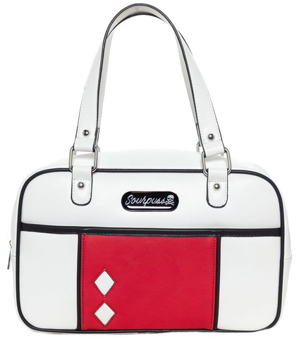 Sourpuss Mod Block Purse White