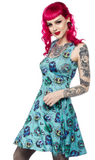 Sourpuss Monster Masks Skater Dress