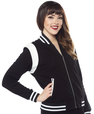 Sourpuss Monster Mortuary Varsity Jacket