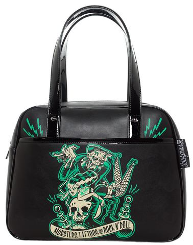 Sourpuss Monster Tattoo Bowler Purse
