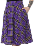 Sourpuss Plaid Bonnie Skirt Purple