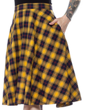 Sourpuss Plaid Bonnie Skirt Yellow