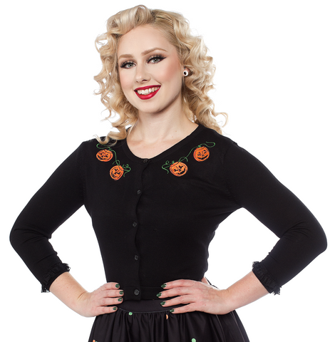 Sourpuss Pumpkin Queen Cardigan