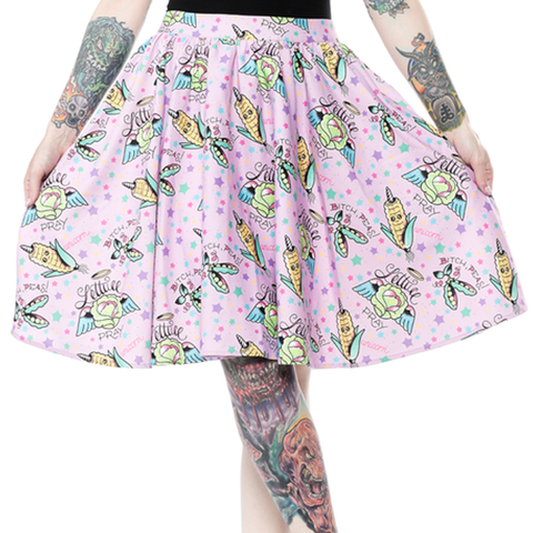 Sourpuss Pun With Food Sweets Skirt