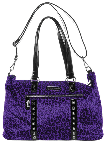 Soupuss Leopard Leda Travel Bag Purple
