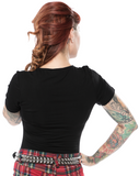 Sourpuss Ramona Top Black