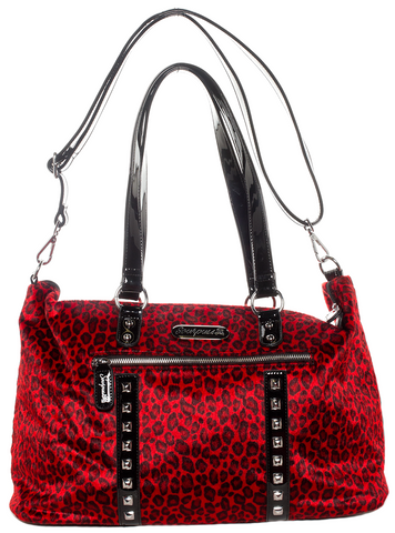 Soupuss Leopard Leda Travel Bag Red