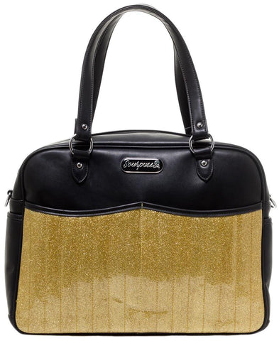 Sourpuss Retro Diaper Bag Gold