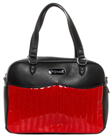 Sourpuss Retro Diaper Bag Red