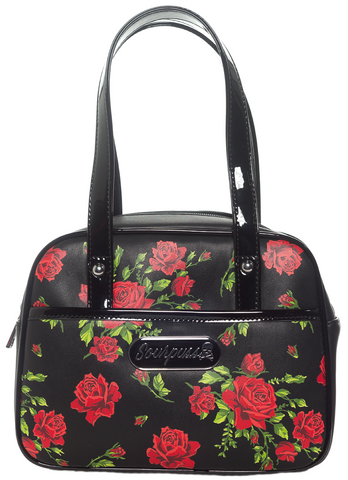 Sourpuss Rose Garden Mini Bowler Purse