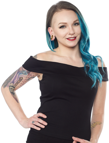 Sourpuss Sandy Top Black