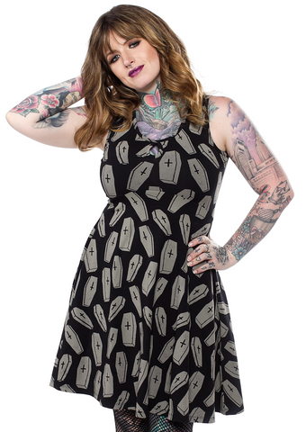 Sourpuss 6 Feet Under Keyhole Skater Dress