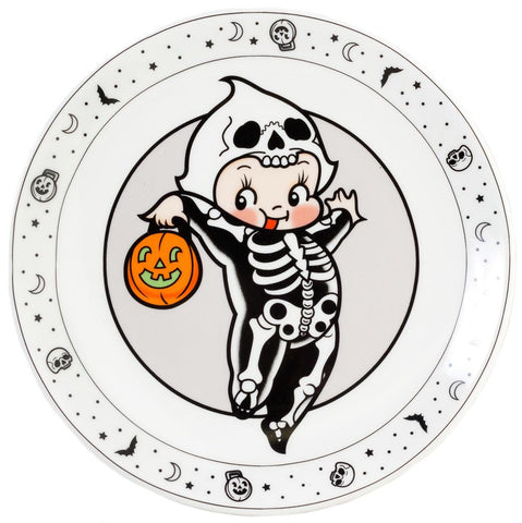 Sourpuss Kewpie Skeleton Plate