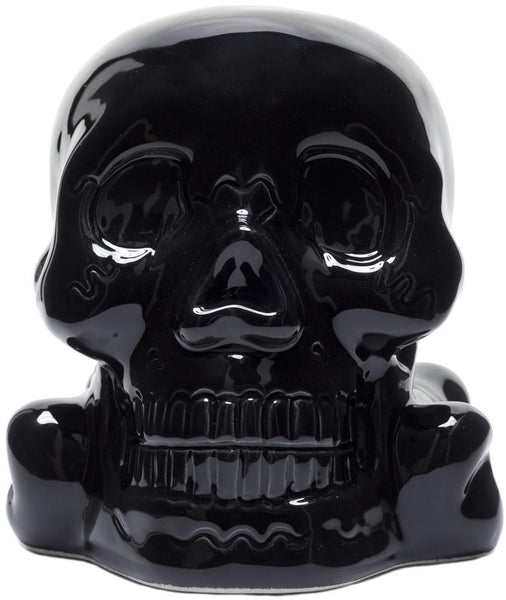Sourpuss Skull Bank Black