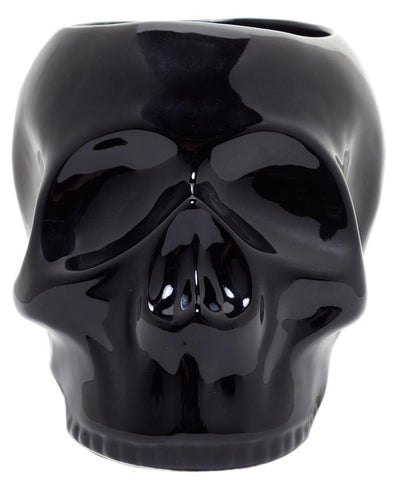 Sourpuss Skull Planter Black