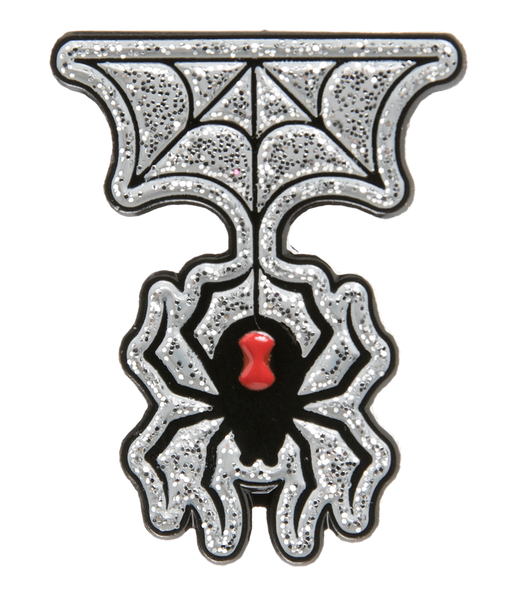 Sourpuss Spider & Web Enamel Pin