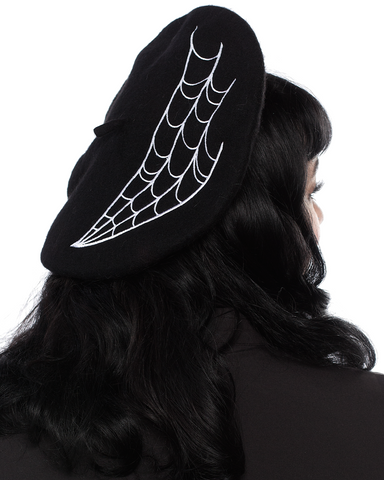Sourpuss Spiderweb Beret