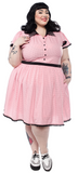 Sourpuss Spiderweb Lydia Dress Pink