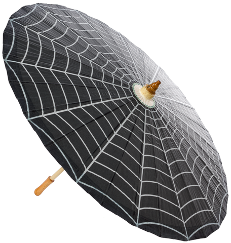 Sourpuss Spiderweb Parasol